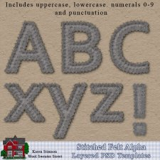 Stitched Felt Alpha Templates by Karen Stimson