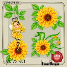 CU Vol 681 Flowers by Lemur Designs