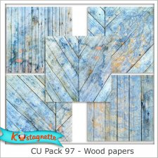 Pack 97 Wood papers by Kastagnette