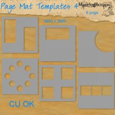 Page Mat Templates Set by Mandog Scraps