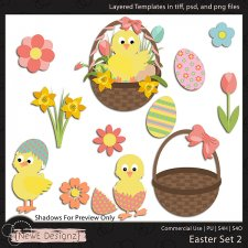 EXCLUSIVE Layered Easter Templates Set 2 by NewE Designz