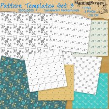 Pattern Templates Set 03 by Mandog Scraps