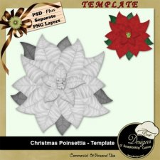 Christmas Poinsettia TEMPLATE by Boop Designs