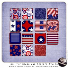 All the Stars and Stripes Styles by MoonDesigns