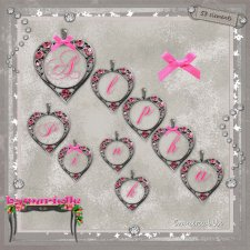 Alpha Heart Pink Elements EXCLUSIVE byMurielle