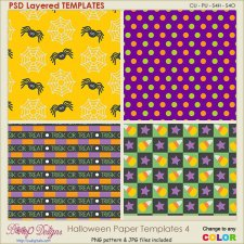 Halloween Pattern Paper TEMPLATES 4