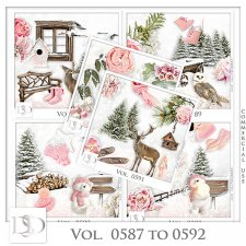 Vol. 0587 to 0592 Winter Mix by D's Design