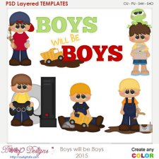 Boys Will Be Boys Layered Element Templates