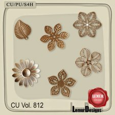 CU Vol 812 Metal Flowers by Lemur Designs