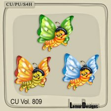 CU Vol 809 Butterfly by Lemur Designs