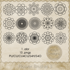 Flower Brushes 3 by Josy