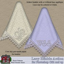 Lacy Hankie Action by Karen Stimson