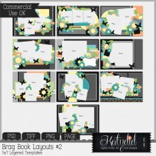 Brag Book Layered Templates Pack No 2