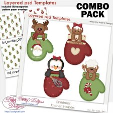 Kitchen Helpers Layered Template COMBO Set