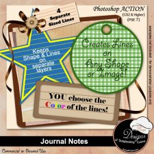 Journal Tag Notes ACTION by Boop Designs