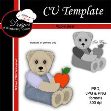 Apple Bear - CU TEMPLATE by Boop Designs