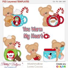 Christmas Cocco for Marshmallow Bear Layered Element Templates