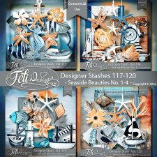 Designer Stash Vol 117-120 - Seaside Beauties No 1-4 by Feli Designs