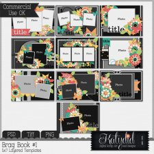Brag Book Layered Templates Pack No 1