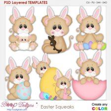 Easter Squeeks Layered Element Templates