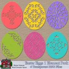 Easter Eggs 1 Element Pack by Karen Stimson