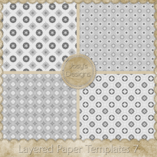 Layered Paper Templates 07 by Josy