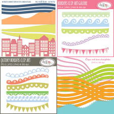Digital borders clipart templates bundle Lilmade Designs