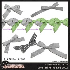 EXCLUSIVE Layered Polka Dot Bows by NewE Designz