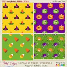 Halloween Pattern Paper TEMPLATES 5