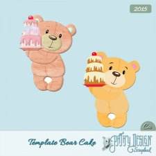 Template Bear Cake PathyDesign
