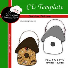 Toadstool Birdhouse - CU TEMPLATE by Boop Designs