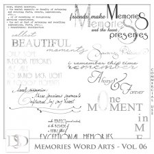 Memories Word Arts Vol 06 by D's Design