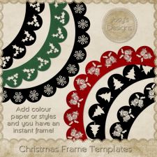 Christmas PNG Frame Templates by Josy