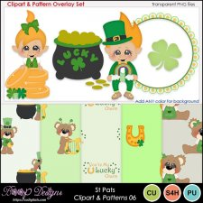 St Pats 06 - Clipart & Pattern Overlay COMBO