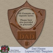 Dad Plaque Template by Karen Stimson