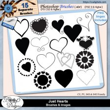 Just Hearts - BRUSHES & Images by Boop Designs