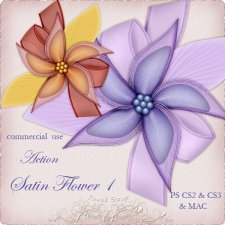 Action - Satin Flower I by Rose.li