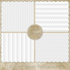 Layered Paper Templates 24 by Josy