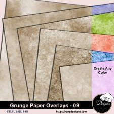 Grunge Paper Overlays 09 by Boop Designs