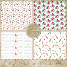 New Year Paper Layered Templates by Josy
