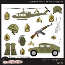 EXCLUSIVE Layered Army Templates By NewE Designz