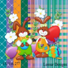 CU Vol 277 Easter Bunny Rabbits by Lemur Designs