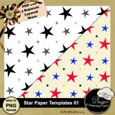 Star Paper TEMPLATE 01 by Boop Designs