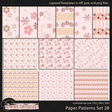 EXCLUSIVE Layered Paper Patterns Templates Set 28 by NewE Designz