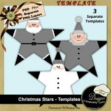 Christmas Stars TEMPLATES by Boop Designs