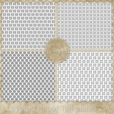 Layered Paper Templates 29 by Josy