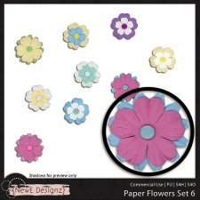 EXCLUSIVE Paper Flowers Set 6 by NewE Designz