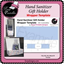 Hand Sanitizer Bottle Gift Holder TEMPLATE by Boop Printables