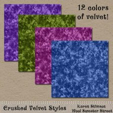 Crushed Velvet Layer Styles by Karen Stimson