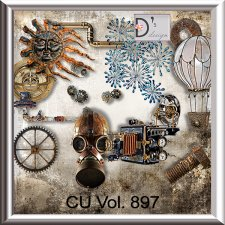 Vol. 897 Steampunk Mix by Doudou Design
